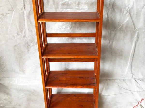 Kệ sách gỗ cao su 4 tầng 2 màu chiều ngang 65cm KS018 – KS019 (5)