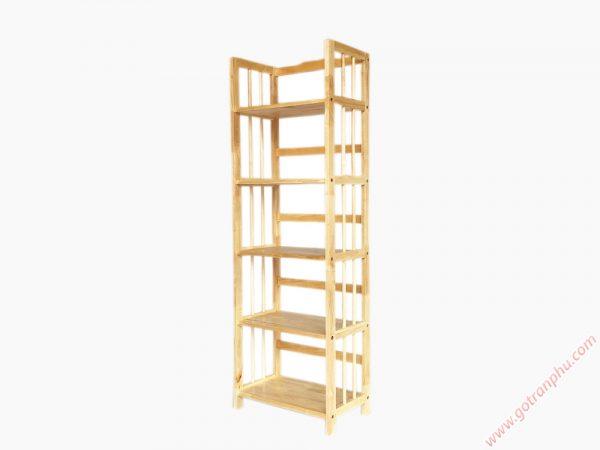 Kệ-sách-gỗ-cao-su-5-tầng-màu-gỗ-tự-nhiên-ngang-65cm-KS016