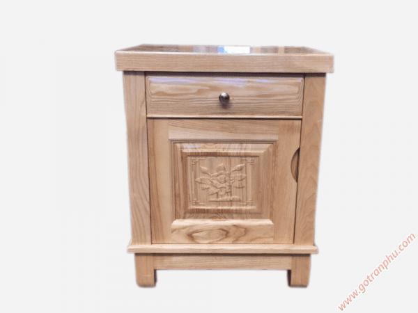 Tủ đầu giường gỗ sồi gỗ tự nhiên (46cmx40cmx60cm) (2)