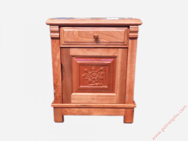 Tủ đầu giường gỗ xoan đào gỗ tự nhiên (46cmx50cmx60cm) (2)