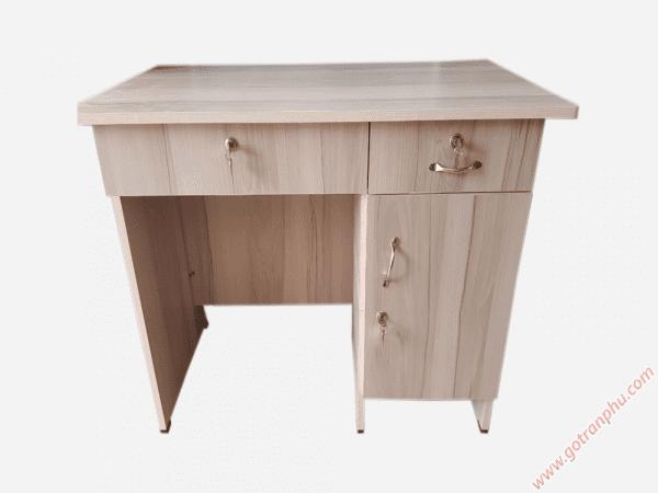 Bàn làm việc văn phòng gỗ Melamine 3 ngăn tủ (6)