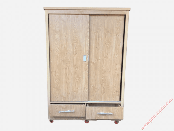 Tủ đựng quần áo cửa lùa gỗ Melamine (4)