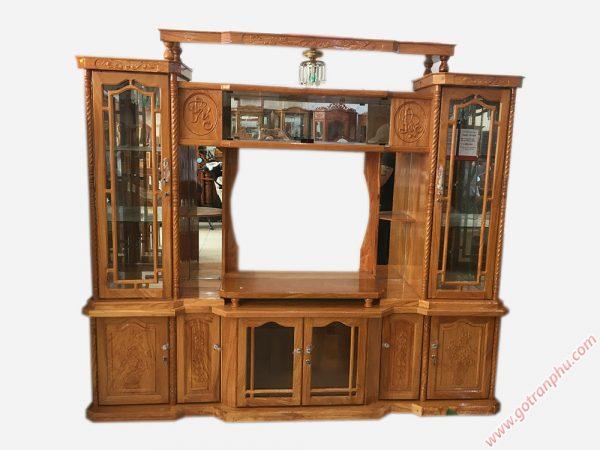 Tủ đựng tivi phòng khách gỗ gõ đỏ KT002 (9)