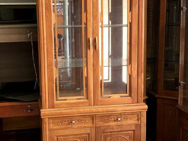 Tủ rượu phòng khách gỗ đinh hương rộng 1m - TR002 (5)