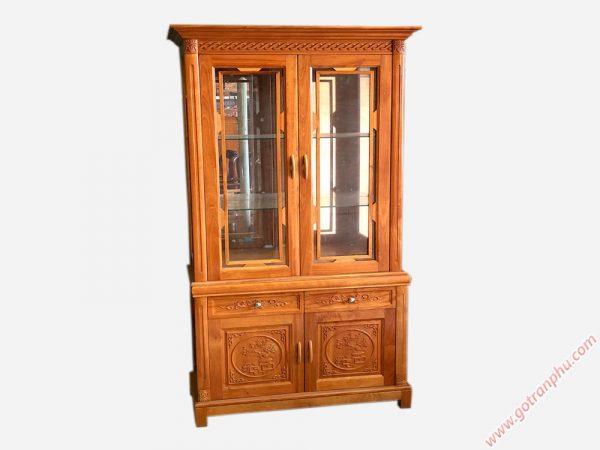 Tủ rượu phòng khách gỗ đinh hương rộng 1m - TR002 (6)