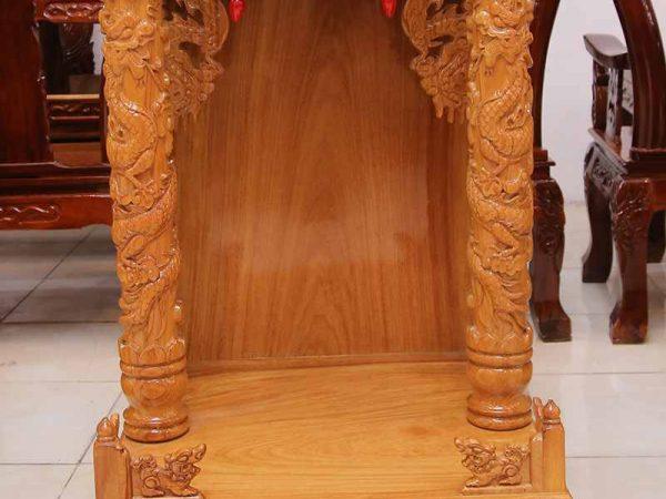 Bàn thờ ông địa gỗ gõ đỏ không đèn led ngang 60cm - 70cm (4)