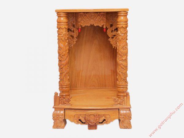 Bàn thờ ông địa gỗ gõ đỏ không đèn led ngang 60cm - 70cm (5)