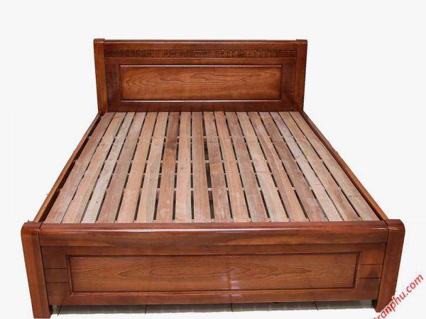 Giường ngủ gỗ xoan đào lá vạt thường (1m2 - 1m6 - 1m82m) (0)