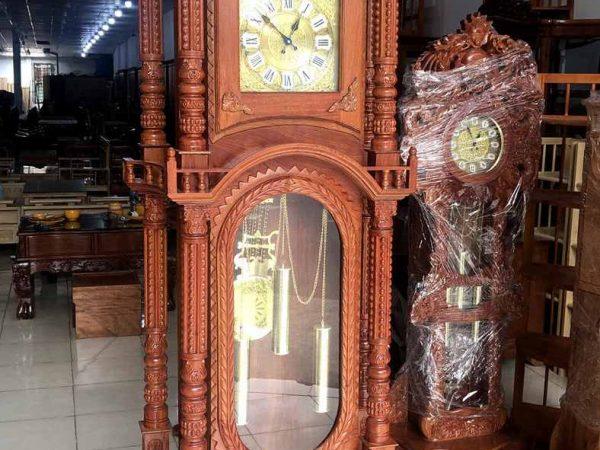 Đồng hồ tháp gỗ cẩm lai (6)