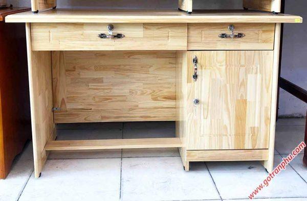 Bàn làm việc văn phòng gỗ thông 1m - 1m2 (2)