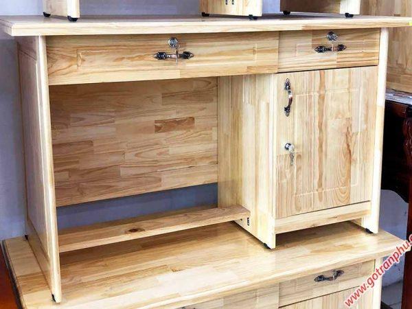 Bàn làm việc văn phòng gỗ thông 1m - 1m2 (6)