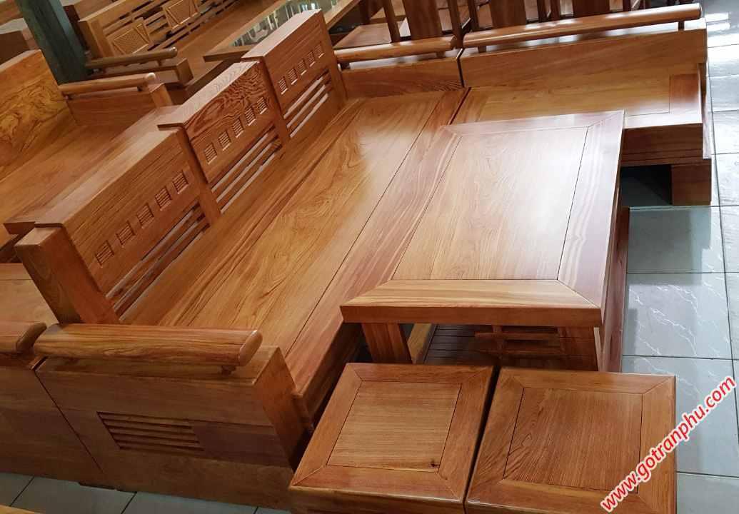 Bộ sofa góc gỗ hương đá SF015 (2)