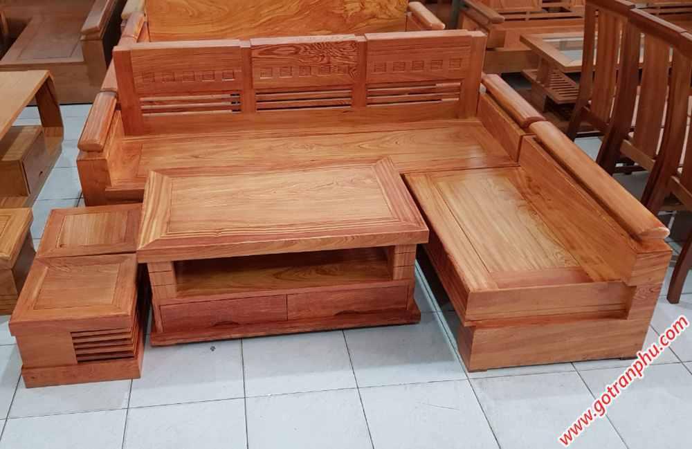 Bộ sofa góc gỗ hương đá SF015 (3)
