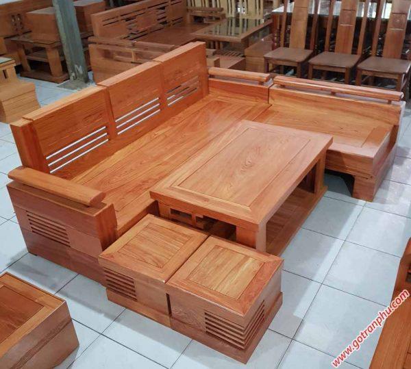 Bộ sofa góc gỗ hương đá SF015 (4)