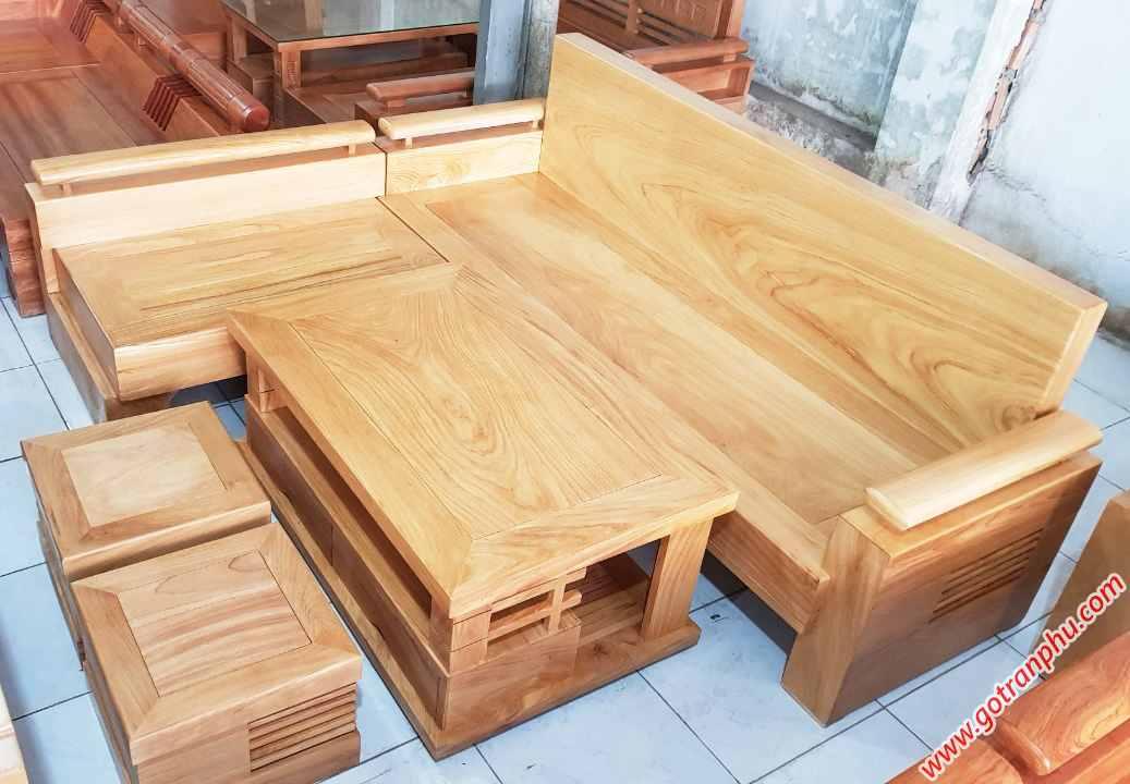 Bộ sofa góc gỗ hương đá SF018 (2)