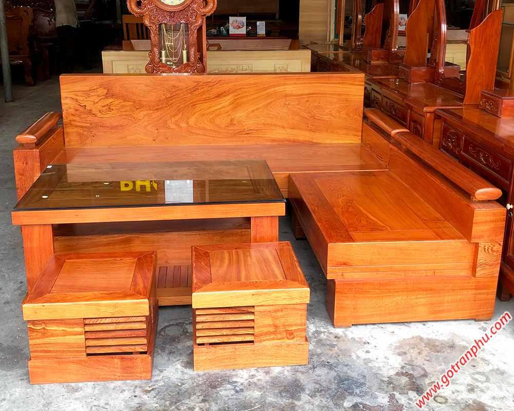 Bộ sofa góc gỗ hương đá tựa liền SF019 (11)