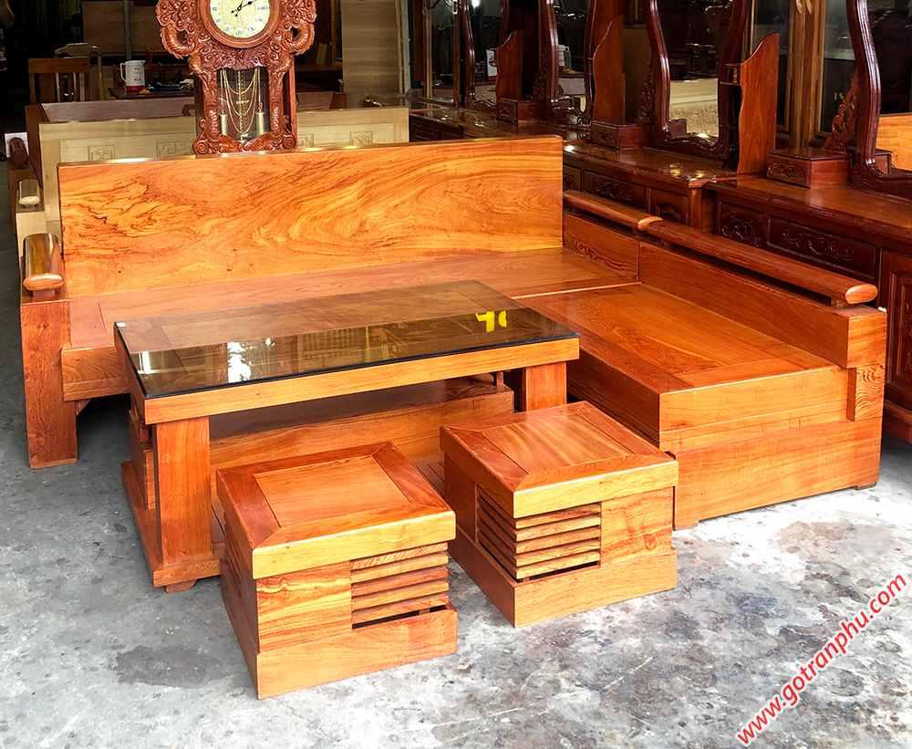 Bộ sofa góc gỗ hương đá tựa liền SF019 (5)