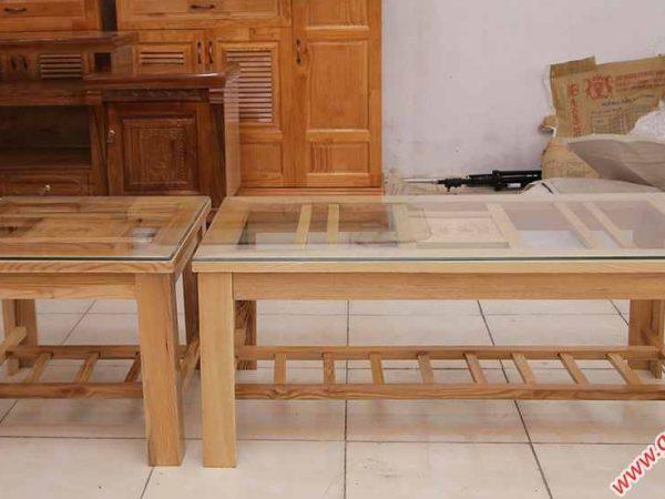 Bộ sofa gỗ sồi màu trắng SF014 (2)