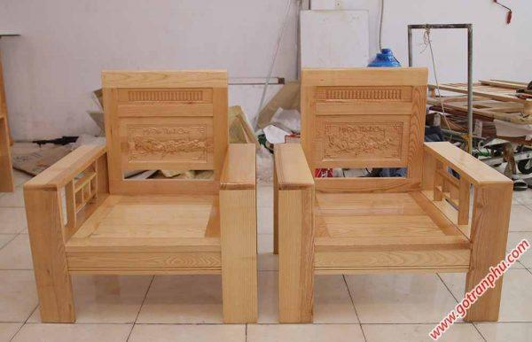 Bộ sofa gỗ sồi màu trắng SF014 (5)