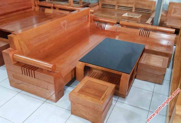 Bộ sofa gỗ sồi mỹ chạm hình kim cương SF017 (3)