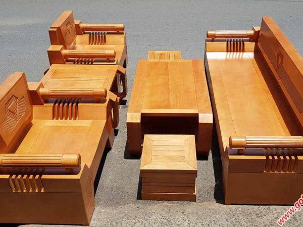 Bộ sofa thùng gỗ bích 7 món SF023 (1)
