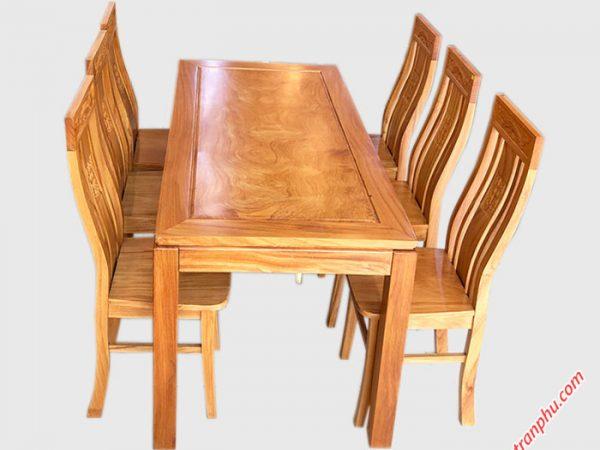 Bàn ăn hình chữ nhật 6 ghế gỗ gõ đỏ BA030 (1)