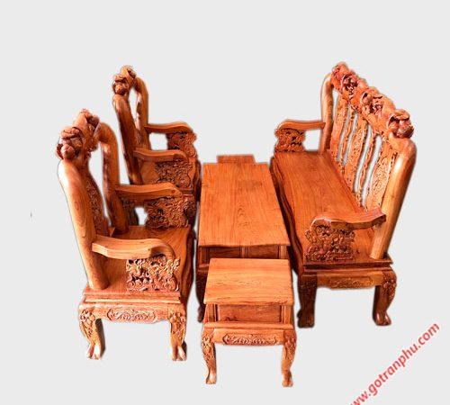 Bộ salon gỗ cẩm lai tay 10 SA036