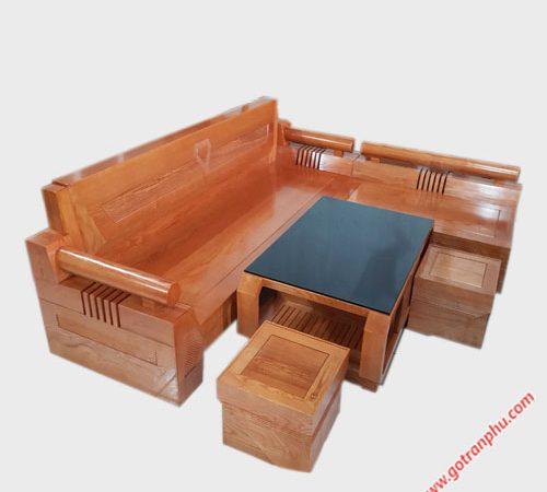 Bộ sofa gỗ sồi mỹ chạm kim cương SF017