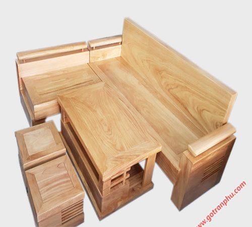 Bộ sofa góc gỗ gõ đỏ SF018