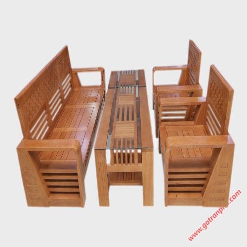 Bộ sofa thùng gỗ bích SF009