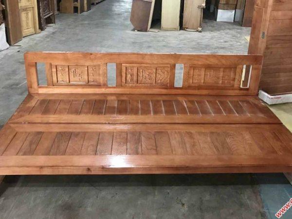 Ghế trường kỷ gấp gỗ sồi Nga 1m - 1m2 (4)