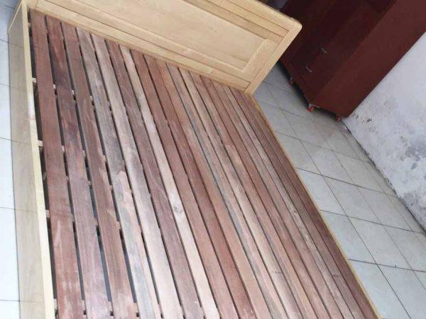 Giường ngủ gỗ sồi bệt 1m6 - 1m8 (2)