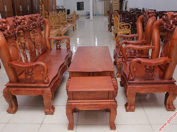 Salon gỗ cẩm lai campuchia tay 12 SA024 (4)