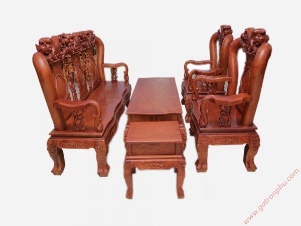 Salon gỗ cẩm lai campuchia tay 12 SA024