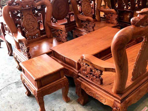 Salon gỗ cẩm lai mặt liền nguyên tấm tay 10 SA030 (3)