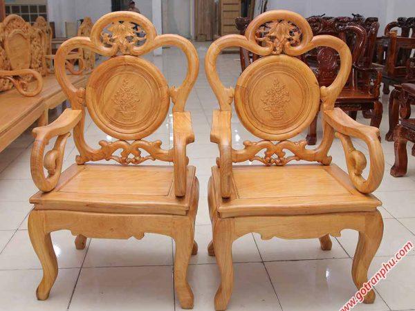 Salon gỗ gõ đỏ 100% kiểu chuông ruột nho SA023 (1)
