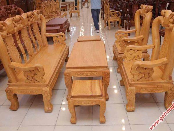 Salon gỗ gõ đỏ tay 10 tay ghế chạm rồng SA025 (7)