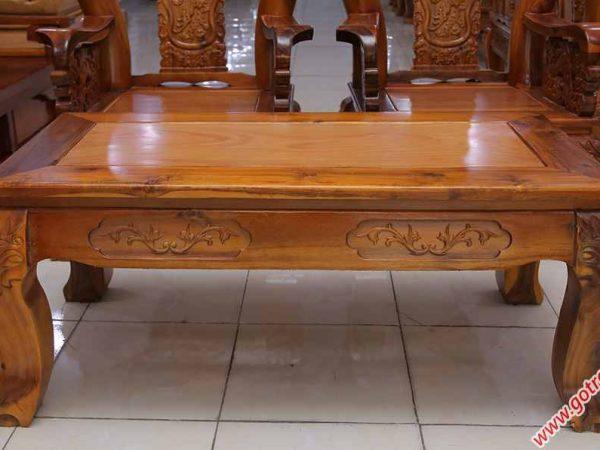 Salon gỗ xoan đào, mặt gỗ gõ đỏ bao lam tay 10 chạm Nghê SA027 (6)
