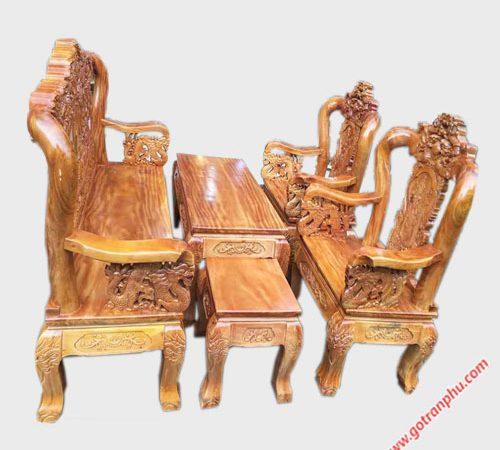 Salon tay 10 gỗ gõ đỏ rồng bát tiên SA006