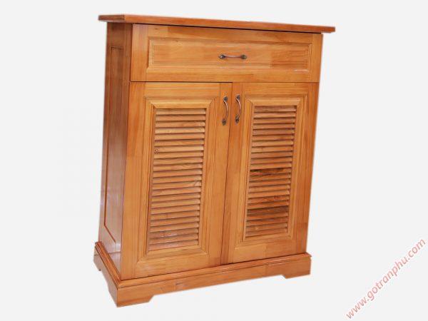 Tủ đựng giày dép gỗ cao su 2 cánh ngang 80cm TD007 (1)
