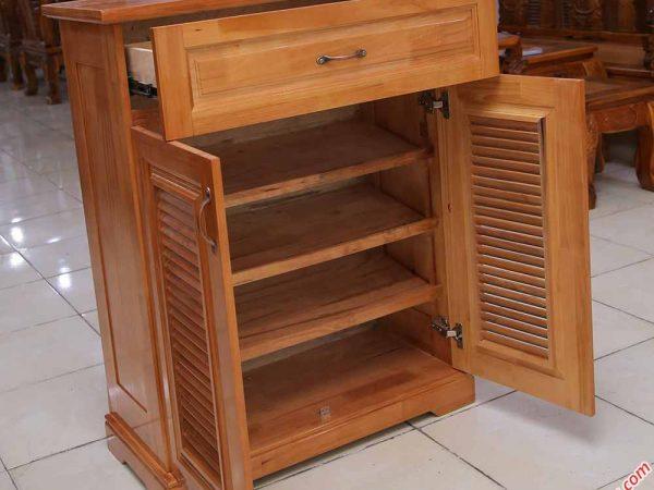 Tủ đựng giày dép gỗ cao su 2 cánh ngang 80cm TD007 (3)
