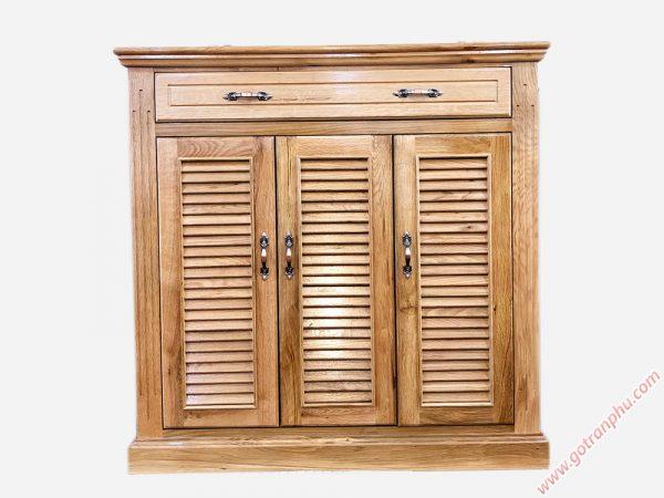 Tủ đựng giày dép gỗ sồi màu trắng 3 cánh 1m - 1m2 (10)