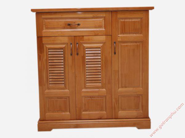Tủ giày dép gỗ cao su 3 cánh ngang 1m - 1m2 (5)