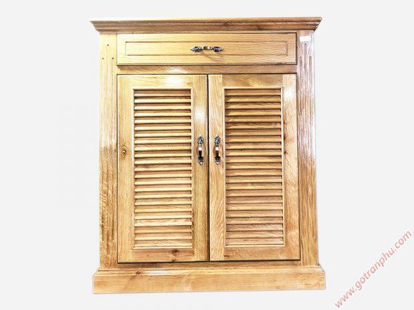 Tủ giày dép gỗ sồi 2 cánh ngang 80cm TD015 (6)