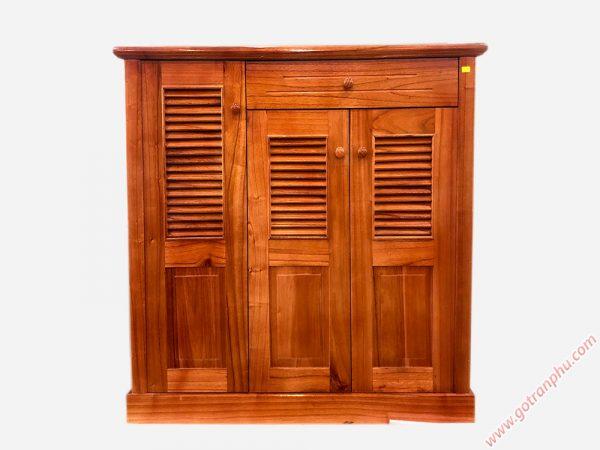 Tủ giày dép gỗ xoan ta 3 cánh ngang 1m TD010 (2)