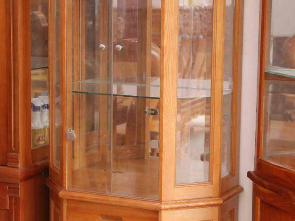 Tủ rượu gỗ xoan đào ngang 1m TR003 (1)