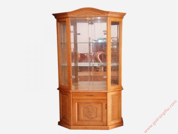 Tủ rượu gỗ xoan đào ngang 1m TR003 (3)