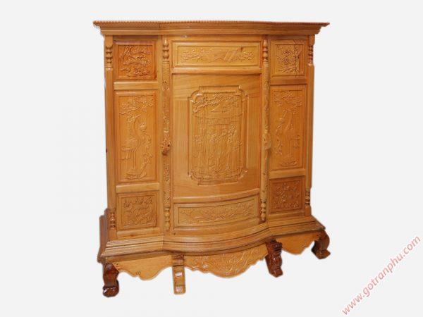 Tủ thờ 6 chân gỗ căm gõ TT001 (1)