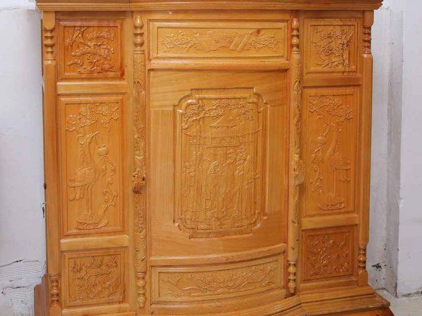 Tủ thờ 6 chân gỗ căm gõ TT001 (2)