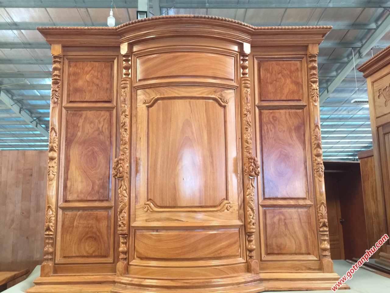 Tủ thờ gỗ gõ đỏ Lào 100% 1m6 TT014 (2)